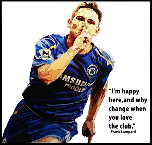 - Frank Lampard Chelsea Football Soccer Poster POP ART canvas Quotes wall decals framed
