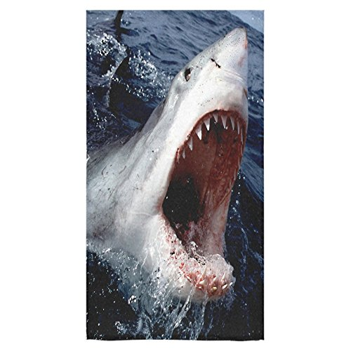Christmas/Thanksgiving Gifts Scary Real Shark With Sharp Teeth Thin Soft Towel 30