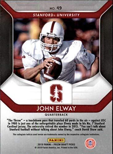 super cute 35cf8 19394 Amazon.com: 2019 Prizm Draft Picks Football #49 John Elway ...