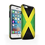 STUFF4 Gloss Tough Shock Proof Phone Case for Apple iPhone 6S+/Plus / Jamaica/Jamaican Design / Flags Collection
