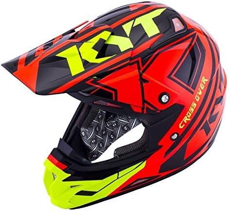 KYT Cross Over Helmet 2017モデル オフロード ヘルメット レッド/イエロー XXL(63~64cm)