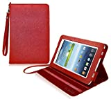 COD(TM) Stand Leather Case For Samsung Galaxy Tab 3 7.0 P3200 (Red)