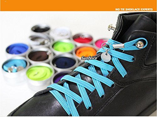 925d05acc2a06 SOMADE Innovative Fashion Shoelaces Elastic No Tie Shoelaces Best Lock  Shoelaces for Kids and Adults,For sneakers,Boots, Work Boots & Hiking  Shoes,Fit ...