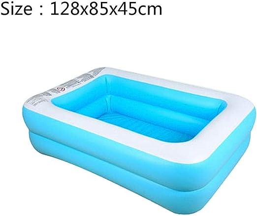 HtapsG Piscinas Desmontables con Depuradora Natación Inflable para Niños Bañera De Baño De Gran Tamaño Uso En El Hogar para Niños Remar PVC Natación Cuadrada para Bebé-Estilo2 128X85X45Cmintex: Amazon.es: Jardín