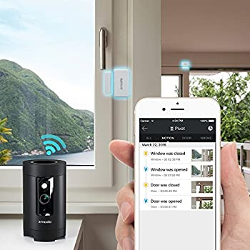 Zmodo Pivot 1080p Hd 360° Rotating Wireless All-in-one Security Camera System With 2 Pack Door Window Sensor 1