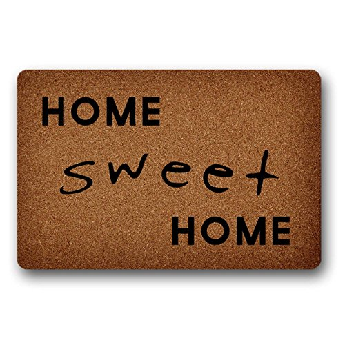 JXSED Home Sweet Home Door Mat Decorative Indoor/Outdoor Rubber Non Slip Floor Mat Doormat for Patio Front Door 16x24 -