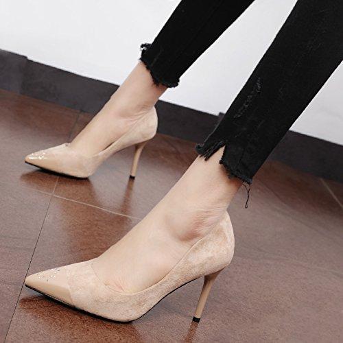 zapatos versátil elegante fina de la de personalizada punta agua punta personalizada Xue d0c572
