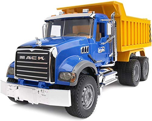 Bruder 02815 MACK Granite Dump Truck for Construction and Farm Pretend Play