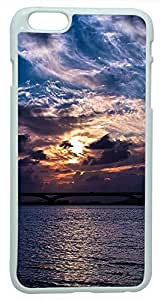 Generic Amazing Sunset Sky Clouds Sea Nature Hard Case for iPhone 6 Plus White