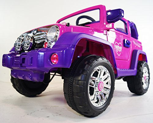 KIDS-CAR power wheels JEEP style. With Parent REMOTE Control. 12V BATTERY Operated. ELECTRIC power cars- Ride on Toys. MP3. Childrens cars 2 to 5 years. Ride on car Girls and Boys. CAR truck to ride - Girls Power Wheels Two Seats