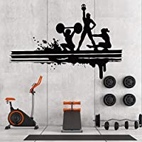 Motivational Inspirational Gym Wall Decals - Workout Fitness Crossfit Exercise Room Art Decor Vinyl Stickers - Quotes Sayings Signs Poster Decorations - Beast Mode On (GY174)