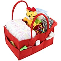 PFFY Diaper Caddy Diaper Organizer for Wife Tote Bag Red