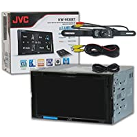 JVC KW-V430BT Car Audio Double DIN 6.8 Touchscreen DVD MP3 CD Stereo Bluetooth & DCO Waterproof Backup Camera with Nightvision (Optional Camera)