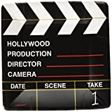 Amscan Movie Night Hollywood Themed Director's Cut Clapper Dessert Paper 7'' Pack 18 Childrens Party Plates (216 Piece)