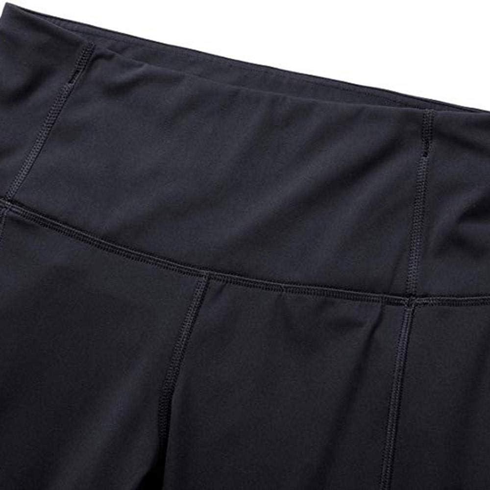 High Waist Blickdicht Sporthose Laufhose Fitnesshose Tights Yoga Hose mit Taschen Leggins mit Reflektierende YEBIRAL Damen 3//4 Sport Leggins