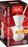 Melitta Coffee Maker, Porcelain 6 Cup Pour- Over Brewer