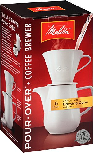 Brewing Urn System - Melitta (640476) 6 Cup Pour-Over Coffee Brewer w/Porcelain Carafe