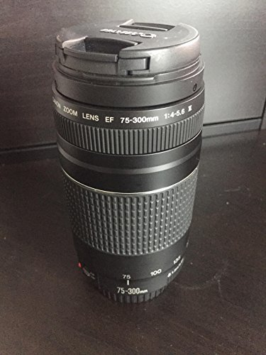 Canon EF 75-300mm f/4-5 6 III Zoom Lens for Canon EOS 7D 60D EOS Rebel SL1 T1i T2i T3 T3i T4i T5i XS XSi XT XTi Digital SLR Cameras + Micro Fiber Cleaning Cloth