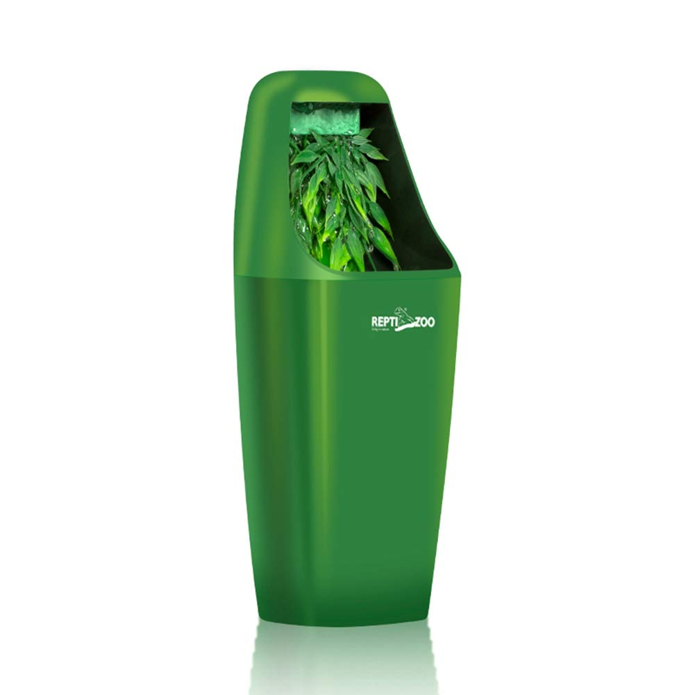 HAICHEN TEC 10.6X4.3Inch ABS Automatic Reptile Water Drinking Filter Feeding Drinkers Tools Drinking Water Fountain Lizard Chameleon Amphibian (Green) by HAICHEN TEC