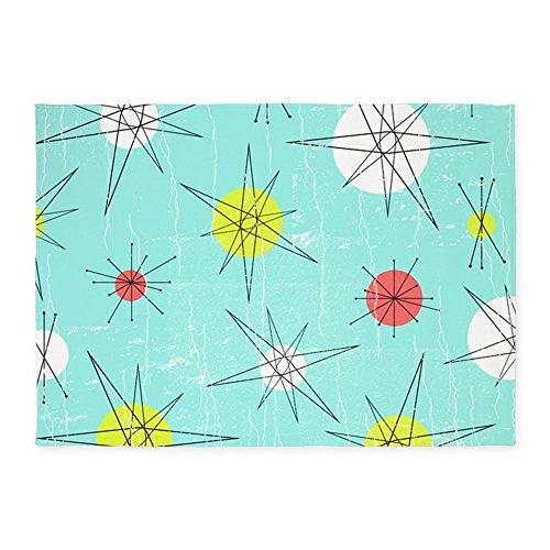 CafePress – Atomic Era Art – Decorative Area Rug, 5'x7′ Throw Rug 51kl 2BWNUs0L