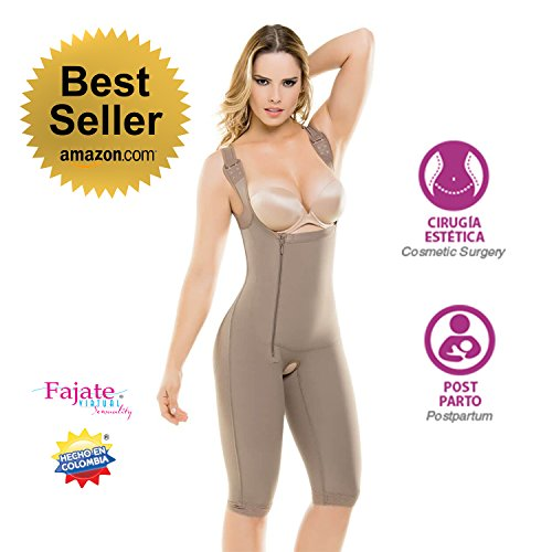 Cheap Fajate Virtual Sensuality Fajate Fajas Colombiana Butt Lifter Post-Surgery/Post-PARTUM Powernet Girdle 438 free shipping
