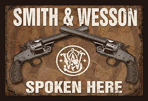 Smith /& Wesson Revolver Motiv 3 Targa di Latta Poster Metallo Insegna ad Arco Targhe Metallo 20x 30 Cm