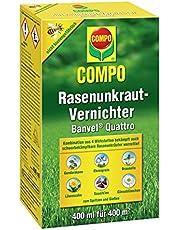 Compo Ogräsbekämpare Banvel Quattro (efterträdare Banvel M), bekämpning av tunga ogräs i gräsmattan, koncentrat, 400 ml (400 m²)
