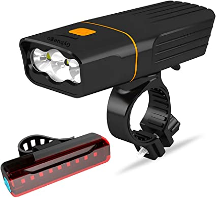 Bike Front LED Lamp Cycling Head Light Waterproof USB Rechargeable Bicycle Lamp//