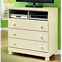 Ashley Furniture Signature Design - Cottage Retreat Media Chest - 3 Drawers - Casual Kids Room - Cream Cottage