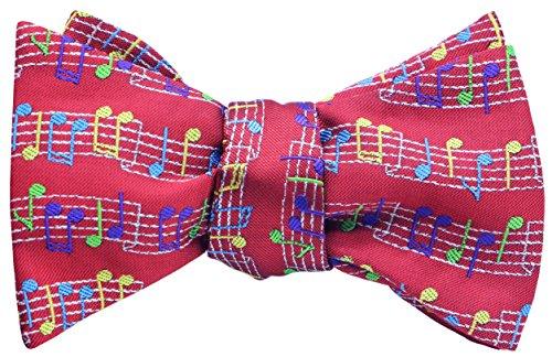 (OCIA Mens Designer Self Bow Tie Pattern Woven Bowtie Musical Rainbow -)