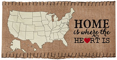 Mud Pie Home is Where The Heart is Pillow Wrap, Gold Leaf