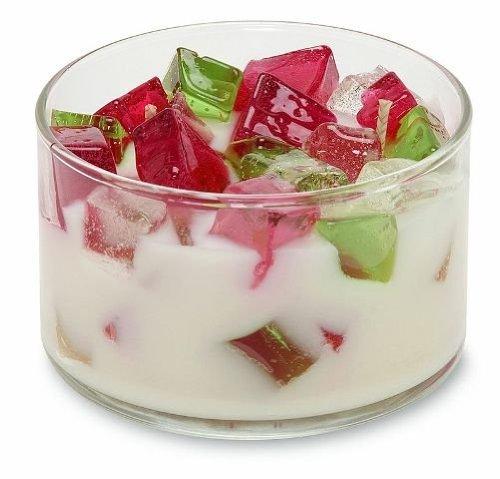 (Primal Elements - Primal Delights Color Bowl Candle Raspberry Rose)
