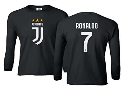 3e27f335b Spark Apparel Soccer Shirt  7 Cristiano Ronaldo Juve CR7 Boys Girls Youth Long  Sleeve T