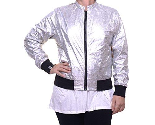 Bomber Silver Metallic Roy Womens RACHEL Rachel Crinkled Jacket qvf0X
