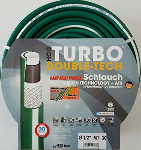 HCG - Tubo per irrigazione Turbo Duble Tech, 1 2 , 30 m
