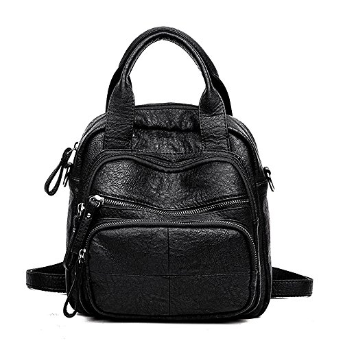 Women Travel Casual Women Bag Backpack PU Daypack Girls Fashion Small Schoolbags YIMOJI Backpack Grey Handbag for Shoulder Leather fwUdfz