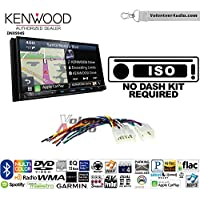 Volunteer Audio Kenwood Excelon DNX994S Double Din Radio Install Kit with GPS Navigation Apple CarPlay Android Auto Fits Non Amplified 1987-2009 Toyota 4Runner, 1987-2015 Camry, 1995-2015 Tacoma