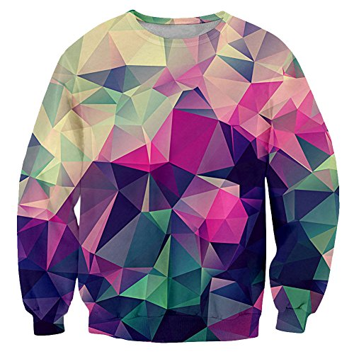 Chiclook Cool Chic Unisex Women Men Fashion Geometric Patterns 3D Print Graphic Sweatshirt Jersey Harajuku Hooded T Shirts