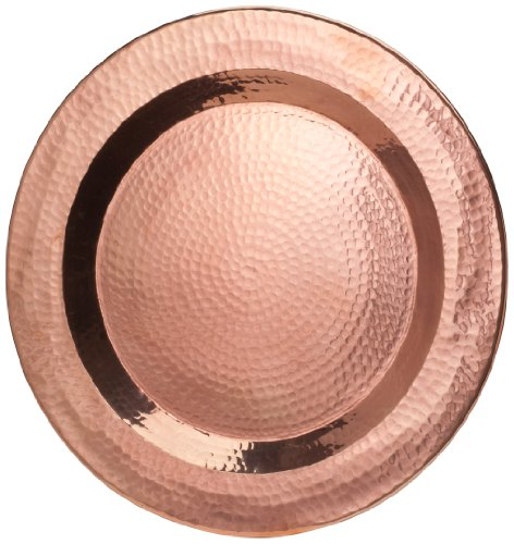 (Sertodo Copper, Thessaly Round Platter, Hand Hammered 100% Pure Copper, 18 inch diameter)