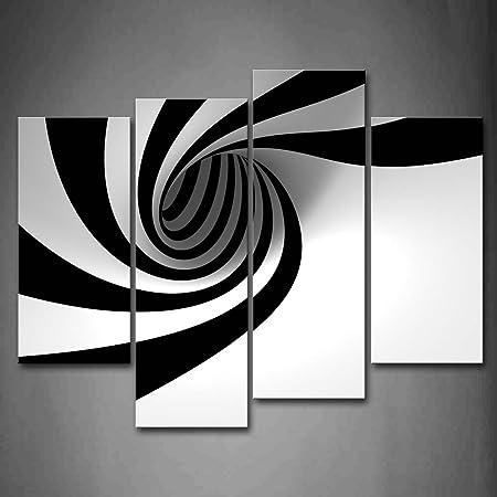 Noir Et Blanc Gris Noir Blanc Trou Peinture Murale D Art L Image Imprimée Sur Toile Abstrait Photos D œuvres D Art Pour Le Bureau à Domicile