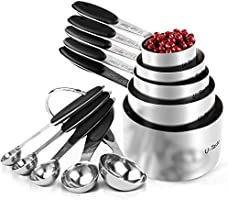 Measuring Cups : U-Taste 18/8 Stainless Steel Measuring Cups and Spoons Set of 10 Piece, Upgraded Thickness Handle