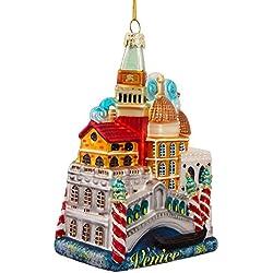 Kurt Adler 5-Inch Venice Cityscape Glass Ornament