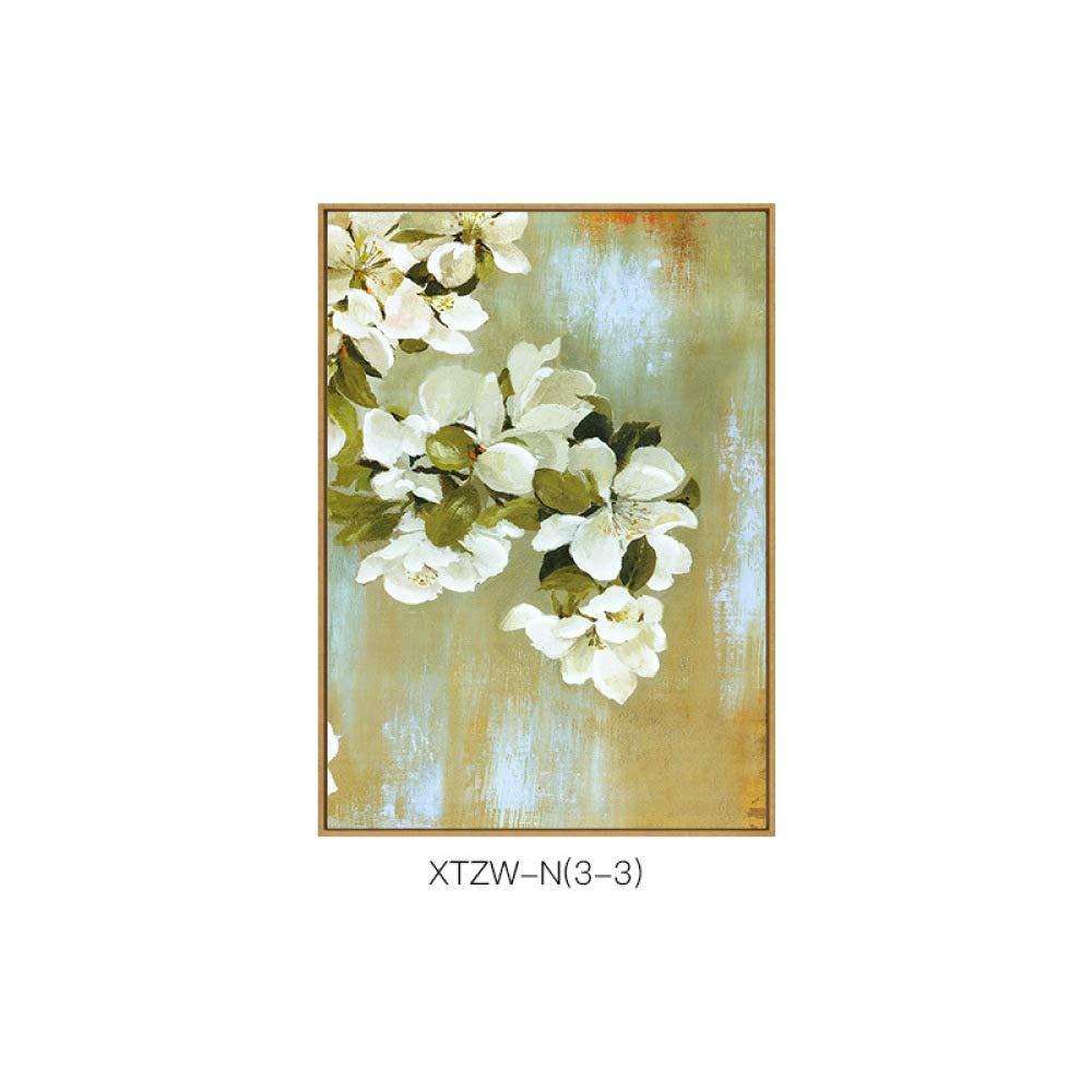 DEE Pequeñas Flores de Plantas Americanas y Elegante Sala de Estar combinación de Pintura de combinación única, Pintura de Chorro de Tinta,B,50  70