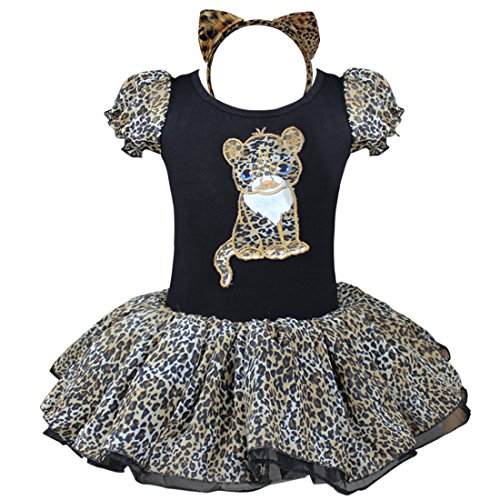 TiaoBug Girls Leopard Xmas Cosplay Dress Up Party Costume Headband Dance Dress (2-3) - Kids Christmas Dance Costumes
