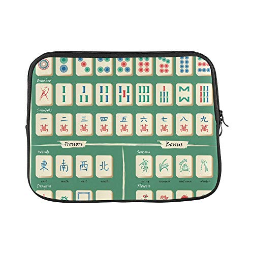 (Design Custom Mahjong Table Game China Entertainment Sleeve Soft Laptop Case Bag Pouch Skin for Air 11
