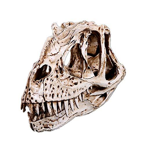 JJG Large Size Scary Dinosaur Skull Figurine Graveyard Cemetery Skeleton Halloween Decoration Sculptures Prop
