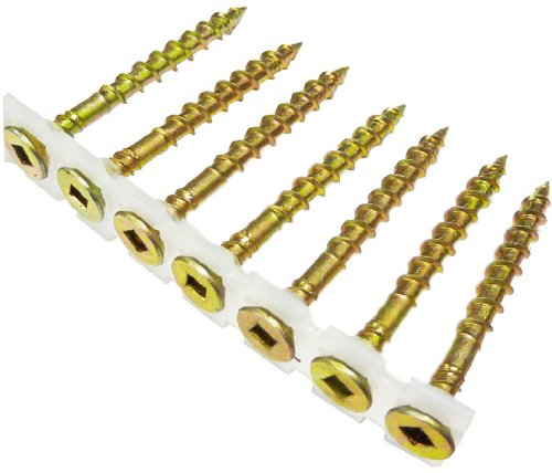 B&C Eagle CS8X212YZ No 2 Square Drive 1000-Count 8 by 2-1/2-Inch Yellow Zinc Collated Subfloor Screws