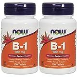 2本セット 海外直送品 Now Foods B-1, 100 Tabs 100 mg