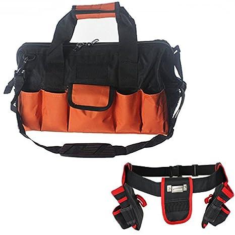 Spares2go 28 Base duro de bolsillo grande bolsa de herramientas + 20  bolsillo doble para herramientas cinturón de lona  Amazon.es  Jardín 2069855baf40