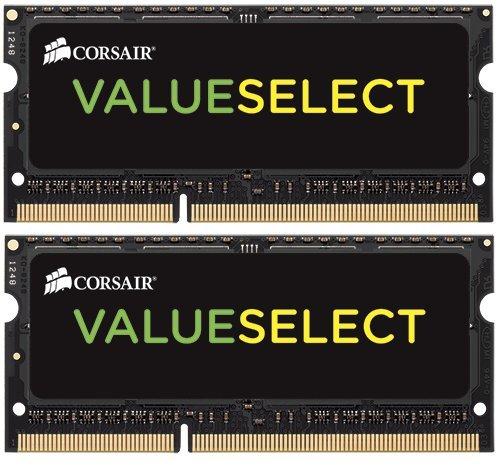 CORSAIR ValueSelect 16GB (2 x 8G) 204-Pin DDR3 SO-DIMM DDR3 1333 (PC3 10600) Laptop Memory Model CMSO16GX3M2A1333C9 by Corsair